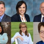 Candidates for Delaware County Council include (top row from left) Republicans Michael Morgan, Kelly Colvin and James Raith, and Democrats (bottom row from left) Monica Taylor, Elaine Schaffer and Christine Reuther. (Photos provided by Delco Dems and Delaware County GOP)