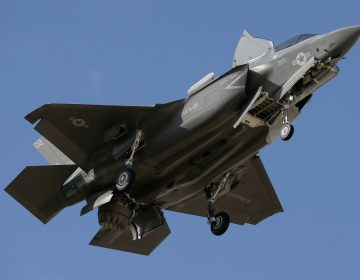 An F-35B fighter jet lands at Luke Air Force Base in this Tuesday, Dec. 10, 2013 file photo, in Goodyear, Ariz. Luke Air Force Base's roster of F-35s has grown and that means the pilot-training installation on the west side of metro Phoenix will produce more flights and more noise. Luke now has 85 F-35s, well en route to its planned full complement of 144, and the base in January reached a milestone of more than 1,000 flights from the base in one month. (AP Photo/Ross D. Franklin, File)