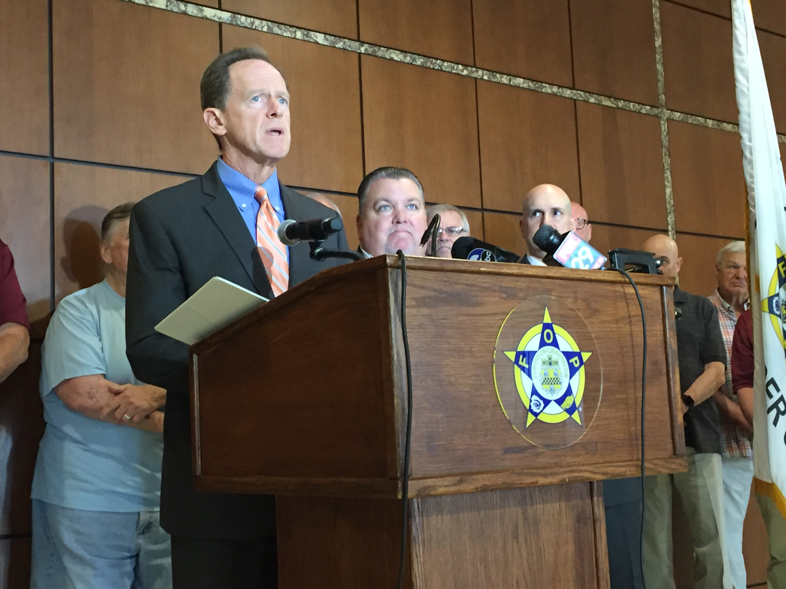 Backing the blue or empty gesture? Toomey boosts bill to punish cop killers