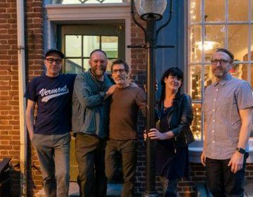 The partners in front of Kitchen's Lane Creamery (Danya Henninger/Billy Penn)
