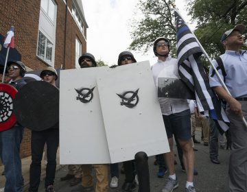 Neo-Nazis, white supremacists and other alt-right factions scuffled with counter-demonstrators near Emancipation Park (Formerly