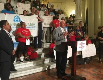 Bucks County Representative Gene DiGirolamo advocates for a higher minimum wage. He is of the few Republicans who has publicly done so. (Katie Meyer/WITF)