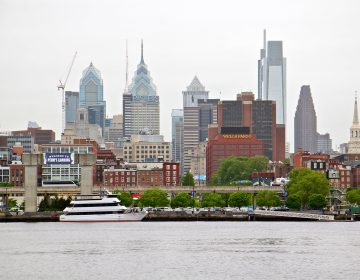 Philadelphia skyline is seen from the Camden waterfront. (Emma Lee/WHYY)