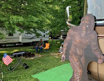 More than 1,000 enthusiasts and researchers came together for the annual Bigfoot Camping Adventure, a conference-of-sorts at a Fayette County campground. (Jason Nark/Philadelphia Inquirer)