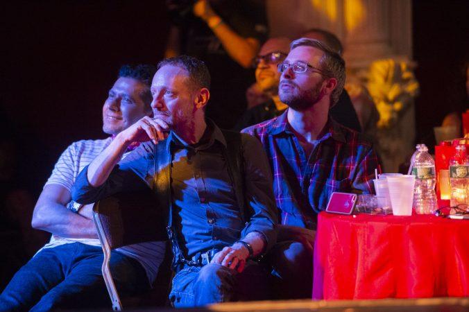 Audience members listen to the Philadelphia Ukulele Orchestra. (Jonathan Wilson for WHYY)