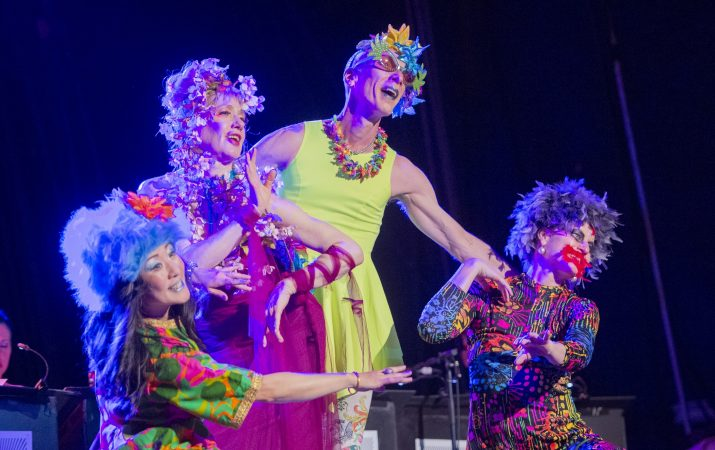 The Big Mess Dancers perform at the Trocadero. (Jonathan Wilson for WHYY)