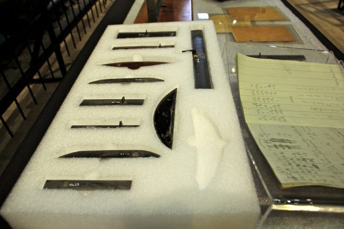 The Franklin Institute collection includes the wing prototypes tested by the Wright Brothers in the wind tunnel. (Emma Lee/WHYY)