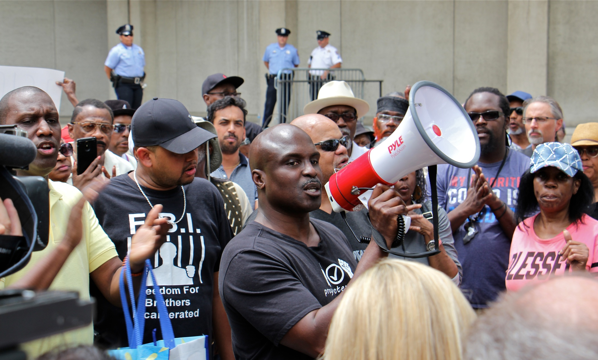 Protest at Philly Police HQ calls for action on Facebook