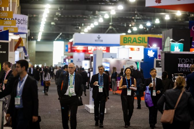 The BIO International Convention drew thousands in the biotech industry from around the globe this week to the Pennsylvania Convention Center. (Brad Larrison for WHYY)