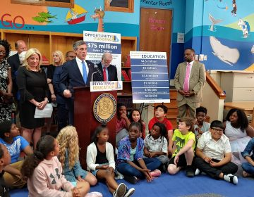 Gov. John Carney calls for $75 million to fund initiatives for low income students, English language learners.  (Zoë Read/WHYY)