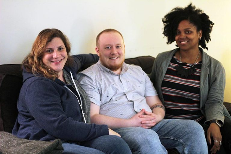 Here to help: (Left to right) Danna Bodenheimer, Walnut Psychotherapy Center founder and director, Gabriel Snell, practice manager, and Biany Pérez, clinical coordinator. (Laura Smythe/Philadelphia Gay News)