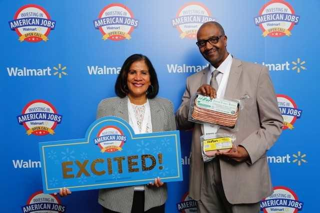 Ed Hipp poses with his wife, Argelis, during Walmart's Open Call event last week in Bentonville, Arkansas. (Provided)