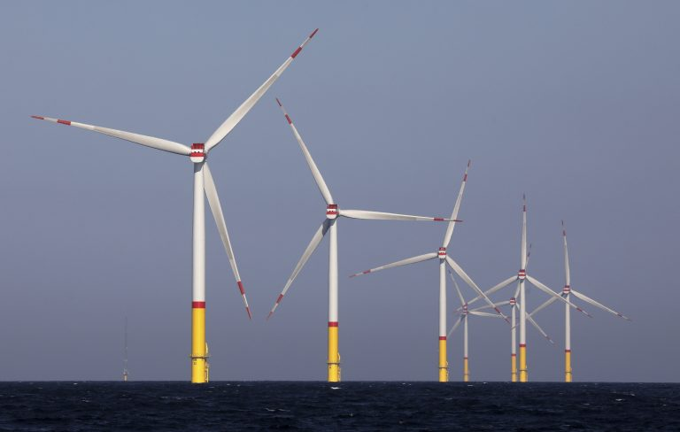 Pictured here is a wind farm in the Baltic Sea is a joint venture of the Essen-based energy group Eon and the Norwegian shareholder Equinor. (Bernd W'stneck/picture-alliance/dpa/AP Images)