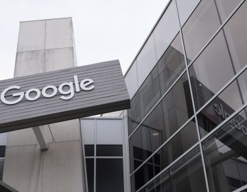 Google logo is seen at its headquarters in Mountain View, California, United States on May 21, 2019. (Photo by Yichuan Cao/Sipa USA/Sipa via AP Images)