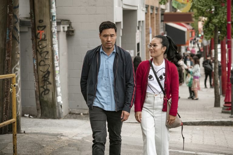 This undated image shows Randall Park and Ali Wong in a scene from the movie