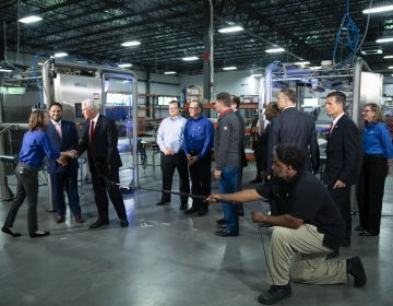 Vice President Mike Pence tours JLS Automation in York, Pa., Thursday, June 6, 2019. (Matt Rourke/AP Photo)