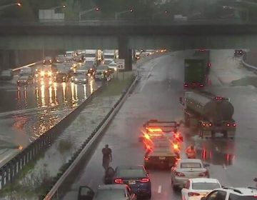Flooding causes major traffic problems on I-295, South Jersey highways.(Camden County Police Department / Twitter)