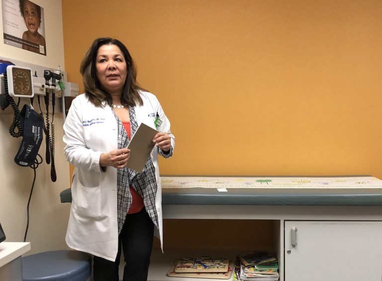 Dr. Tibisay Villalobos-Fry is a pediatric infectious-diseases specialist at Lehigh Valley Reilly Children's Hospital in Allentown.  (Christine Fennessy for WHYY)