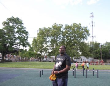 Herbert Campbell moved to Grays Ferry about a year ago. His already severe asthma has gotten worse in that time. (Ximena Conde/WHYY)