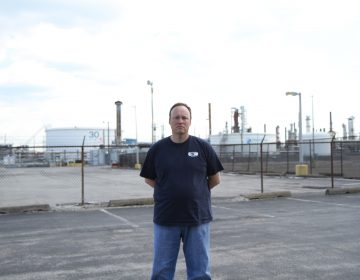 Ryan O'Callaghan is president of the United Steelworkers Local 10-1, which represents 640 union workers at Philadelphia Energy Solutions. The 150-year-old refinery is shutting down later this month after a fire destroyed one of its units. (Ximena Conde/WHYY)