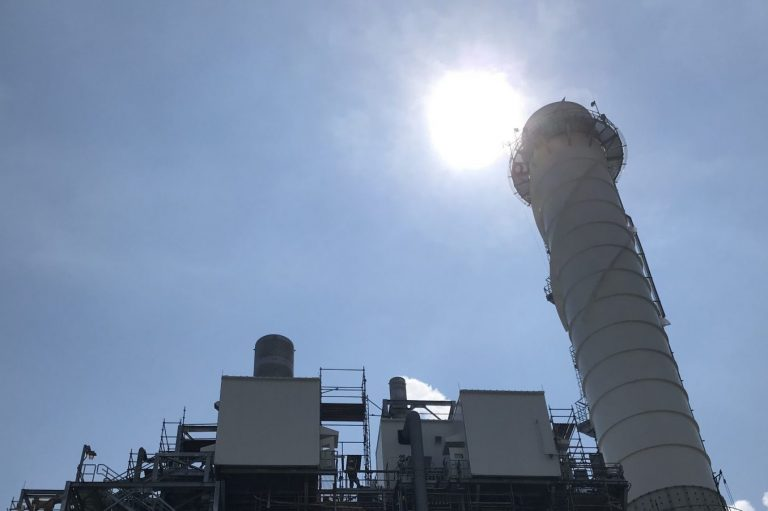 Calpine's York 2 Energy Center is an 828 megawatt combined-cycle natural gas-fired power plant in York County, Pa. (Marie Cusick/StateImpact Pennsylvania)