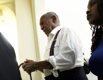 Bill Cosby is taken away in handcuffs after he was sentenced for felony sexual assault on Sept. 25, 2018, in Norristown, Pa. (Mark Makela/AP Photo)