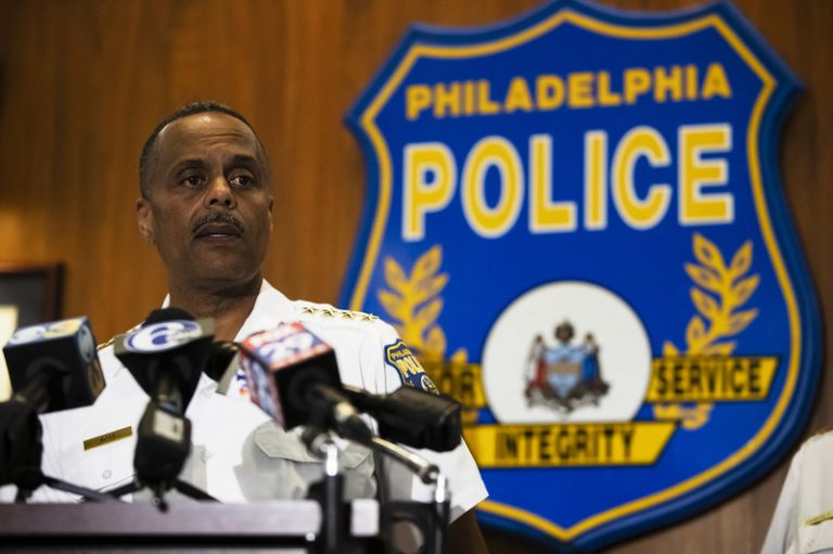 Philadelphia Police Commissioner Richard Ross announced on Wednesday that 72 officers have been placed on administrative duty following an investigation into inflammatory social media posts. (Matt Rourke/AP)