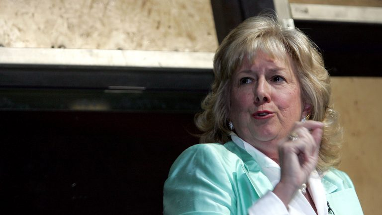 Linda Fairstein, seen at an event in New York City in 2004, parlayed her fame as a prosecutor into a prolific run as a crime novelist. (Paul Hawthorne/Getty Images)