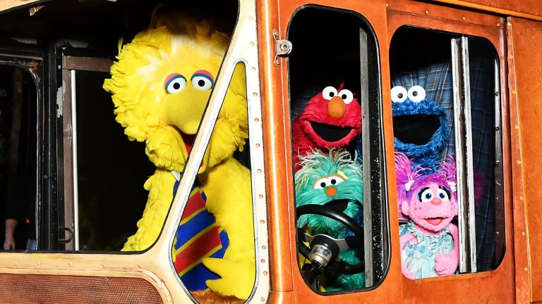 Sesame Street's Big Bird, Elmo, Cookie Monster, and Abby Cadabby attend HBO Premiere of Sesame Street's The Magical Wand Chase at the Metrograph in 2017 in New York City. (Slaven Vlasic/Getty Images)