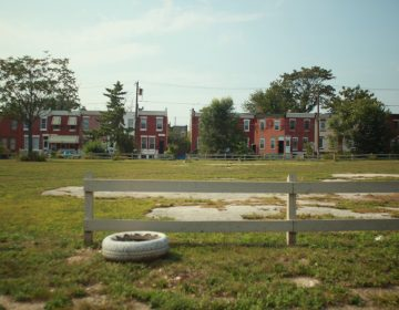 A vacant lot maintained by PHS through the Vacant Lot Stabilization program located on 6th and Berks. (PlanPhilly, file)