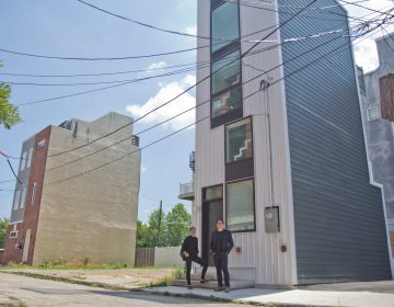 ISA Principal architects Brian Phillips (right) and Deb Katz. (Kimberly Paynter/WHYY)