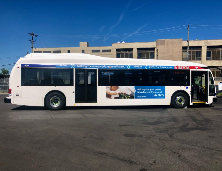 One of SEPTA's new electric buses. (Darryl Murphy/WHYY)