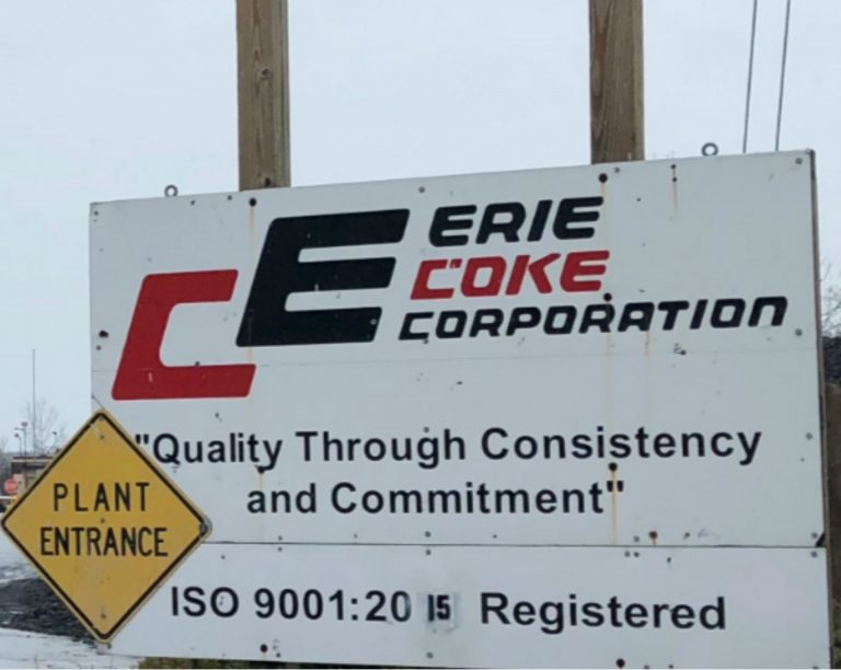 The entrance to Erie Coke. (Amanda Gillooly/Group Against Smog and Pollution (GASP))