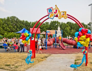 Jake's Place, an inclusive playground, opened this week in Delran, N.J. (Kimberly Paynter/WHYY)