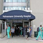 The entrance to Hahnemann University Hospital on North Broad Street. (Emma Lee/WHYY)