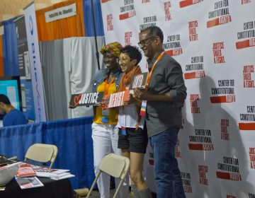 The 2019 Netroots Nation conference, a political event for progressive activists, is being held at the Philadelphia Convention Center. (Kimberly Paynter/WHYY)
