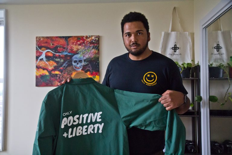Rahmi Halaby is the founder and CEO of Only Positives Co. (Kimberly Paynter/WHYY)
