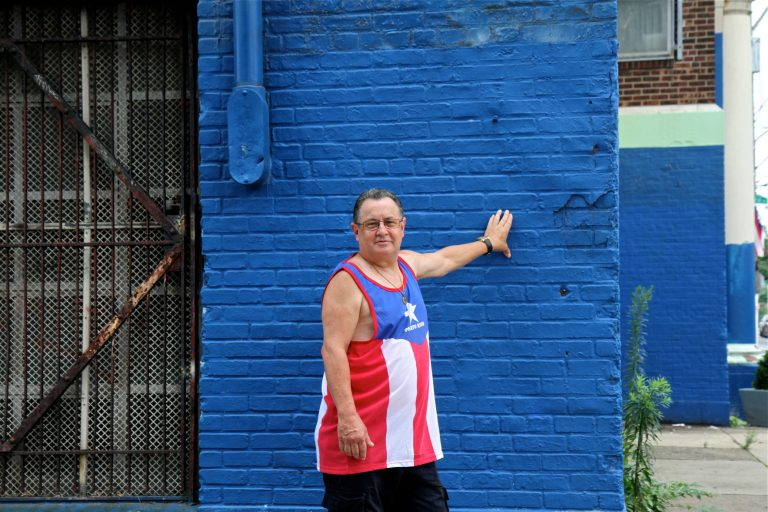Jose Rolon of North Philadelphia grew up in Puerto Rico. Though he's been living in the U.S. for more than 40 years, he's keeping an eye on protests on the island. (Ximena Conde/WHYY)