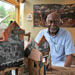 Leroy Johnson is the artist-in-residence at The Barnes. (Emma Lee/WHYY)