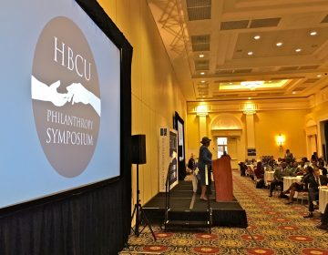 Dozens of HBCU leaders heard from U.S. Rep. Alma Adams , the founder of the Congressional HBCU Caucus, at the 2019 HBCU Philanthropy Symposium hosted by Delaware State University at Dover Downs Hotel and Casino. (Mark Eichmann/WHYY)