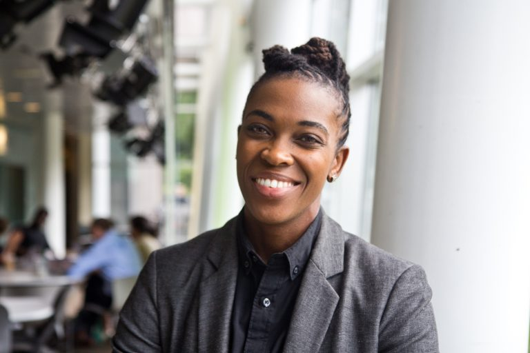 Amber Hikes, executive director of Philadelphia's Office of LGBT Affairs talks about her last day in office. (KimberlyPaynter/WHYY)