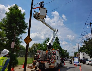 Wilmington officials say the new LED lighting will make the streets safer, and cut energy consumption by 40% to 50%. (Zöe Read/WHYY)