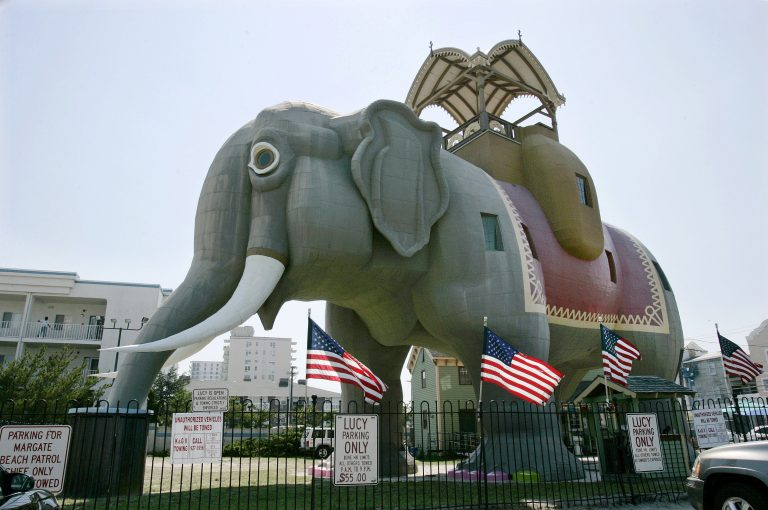 Lucy The Elephant stands in Margate, N.J. (Mel Evans/AP Photo)