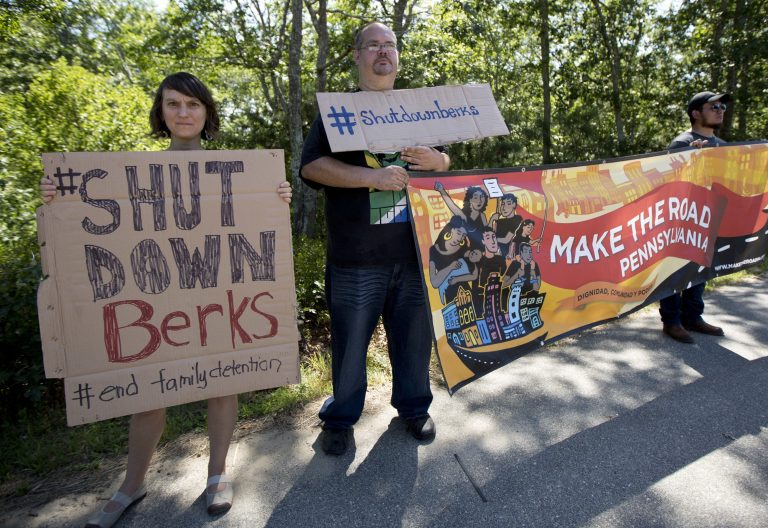 Activists have been calling for the Berks Center to be shut down for years. Tuesday, a county commissioner announced he agrees.   (AP Photo/Manuel Balce Ceneta)