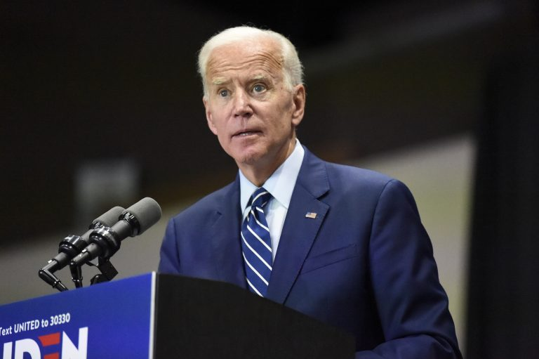 Democratic presidential candidate and former vice president Joe Biden speaks at a campaign event in Sumter, S.C, on Saturday, July 6, 2019. (Meg Kinnard/AP Photo)