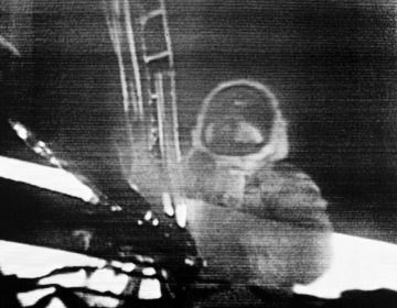"In this July 20, 1969 image made from television, Apollo 11 astronaut Neil Armstrong steps onto the surface of the moon. Millions on Earth who gathered around the TV and radio heard Armstrong say this: ""That's one small step for man, one giant leap for mankind."" But after returning from space, he immediately insisted that he had been misquoted. He said there was a lost word in his famous one-liner from the moon: ""That's one small step for 'a' man."