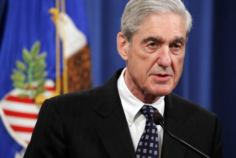 Special counsel Robert Mueller speaks at the Department of Justice in Washingto