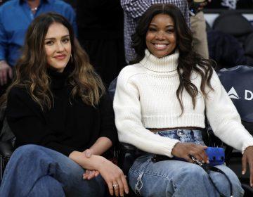 Gabrielle Union, right, and Jessica Alba star in