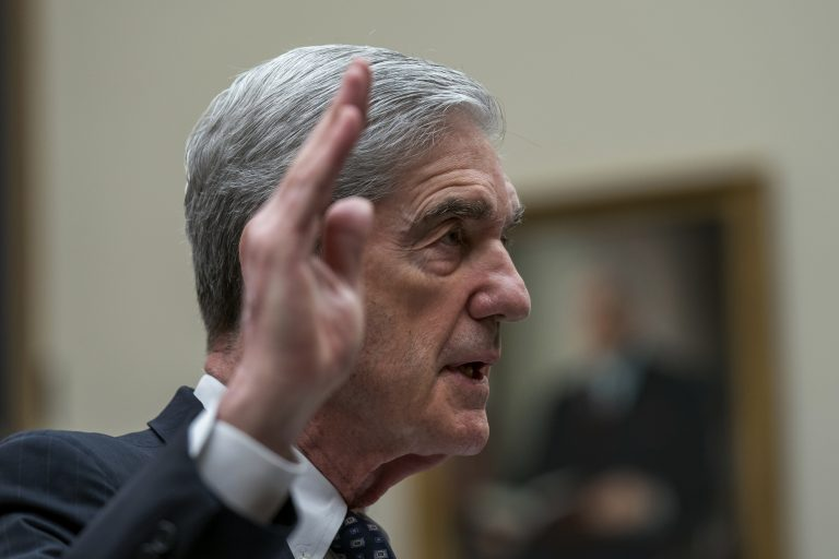 Former special counsel Robert Mueller is sworn in to testify to the House Judiciary Committee about his investigation into Russian interference in the 2016 election, on Capitol Hill in Washington, Wednesday, July 24, 2019. (J. Scott Applewhite/AP Photo)