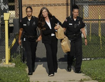 Former Pennsylvania Attorney General Kathleen Kane departs from the Montgomery County Correctional Facility in Eagleville, Pa., on Wednesday, July 31, 2019.  Kane was sentenced in 2016 to 10-to-23 months for perjury, obstruction and other counts. (Matt Rourke/AP Photo)